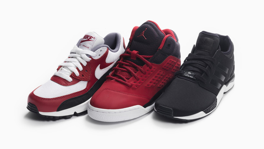 Foot Locker Red Black Dont go unnoticed