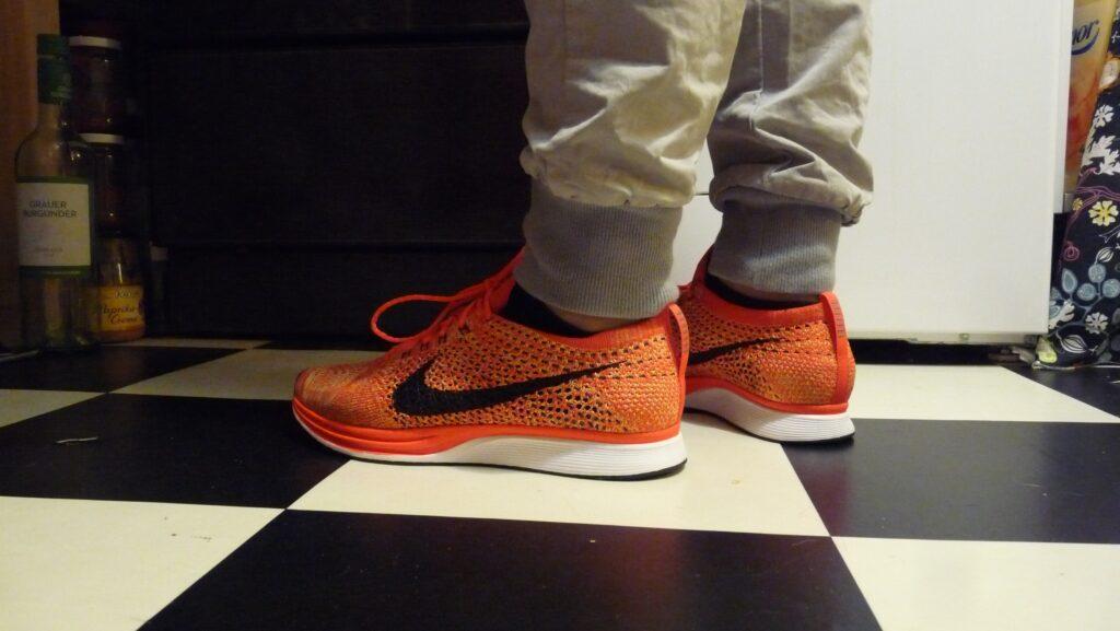 Nike Flyknit Racer (Bright Crimson / Black - Volt)