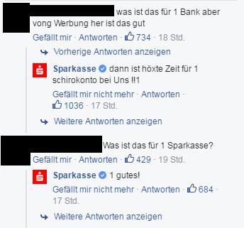Sparkasse Facebook